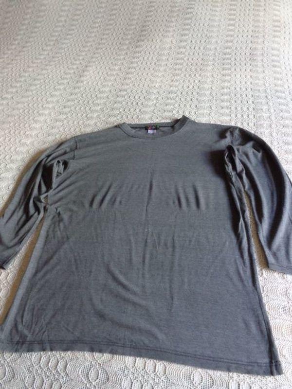 Vintage - Shirt Langarm Langarmshirt grau