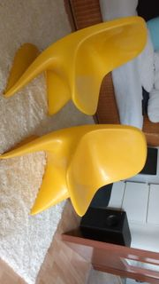 CASALINO Kinderstuhl 2 Stück senfgelb