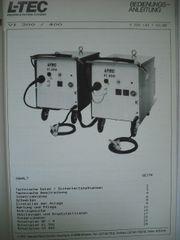 Bedienungsanleitungen - Ersatzteile - Cloos - L-TEC - Schutzgas-Schweißgeräte