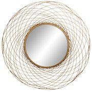 NEU Designer-Spiegel mit Blatt-Gold rund