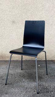 IKEA Stuhl schwarz mit Metallfüßen