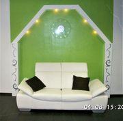 Ausgefallene LED Wandbeleuchtung Hochglanz Weiß