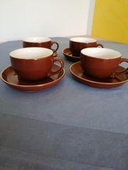 4 Kaffee Cappuccinotassen
