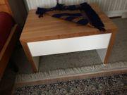 Massivholz-Bett nussbraun weiß Marke Hülsta