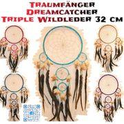 Traumfänger triple Wildleder 32 cm