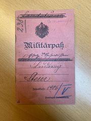 Militärpass 1906 Provinzial-Feldattillerie erster Weltkrieg
