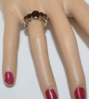 Granat Ring in 333er Gelbgold