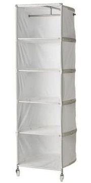 Ikea weißer Textil Kleiderschrank