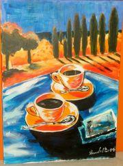 Acrylgemälde auf Leinwand Frühstück in
