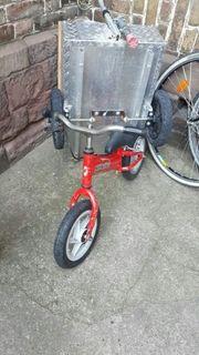 Rotes Laufrad der Marke Runbike
