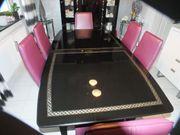 Esszimmertisch schwarz Schleiflack
