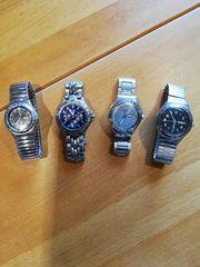 4 x Swatch Uhren Silber