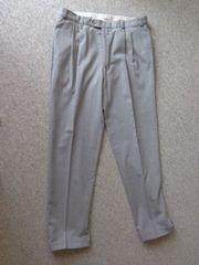 Vintage Herren-Bundfaltenhose Hose Stoffhose Gr