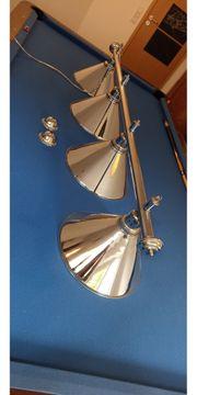 Billardlampe silber 4-teilig