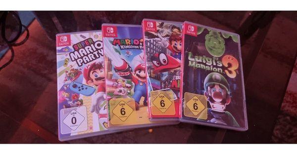 Vier Nintendo switch spiele