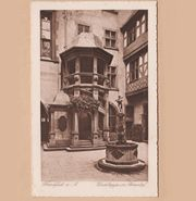 Postkarte Frankfurt am Main Wendeltreppe