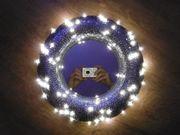 Paillettenbesetzter Spiegel LED-Beleuchtet