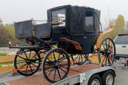 Historische Landauer Hochzeitskutsche Vis-a-Vis Pferde-Kutsche