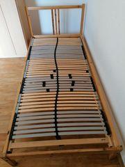 2 Ikea einzelbett mit Holzrost