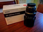 Gebraucht, Sigma 50-100mm F1,8 DC HSM Art für Nikon F-Mount gebraucht kaufen  Mainz Bretzenheim