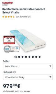 Hochwertige Schaummatratze 160x200 H3 Neupreis