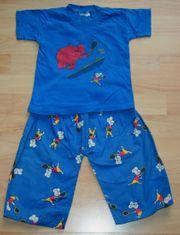 Blauer Sommer-Schlafanzug - Größe 86 - Pyjama -