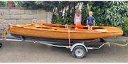 Segelboot Finn Dinghy Mahagoni
