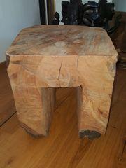 Nachttisch Holzblock aus Kirschholz