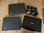 3 ACER-Laptops zum Verwerten Neuaufbau