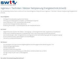 Ingenieur / Techniker / Meister Netzplanung Energietechnik (m/