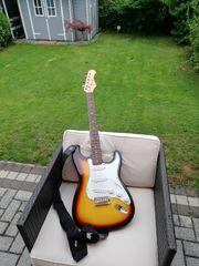 E Gitarre mit Tasche