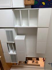 Ikea Wohnzimmerschrankwand Besta Hochglanzweiß von