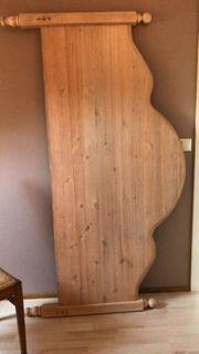Doppelbett-Gestell-Massivholz -Massivholz Pinie leicht gekalkt