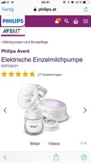 Phillips Avent Milchpumpe