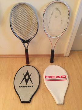 Tennis, Tischtennis, Squash, Badminton - Tennisschläger Head und Völkl mit