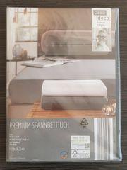 Premium Spannbetttuch grau 90-100x200 cm