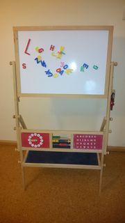 Holztafel für Kinder Magnet Kreide