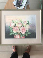 Gemälde -Alte Rosen - Original Aquarell