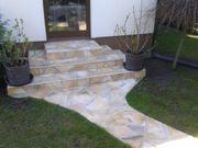 Natursteine Polygonalplatten Einfahrt Terrasse Fassade