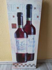 Kunstdruck Rotwein 30x80cm