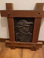 Rustikales Bild Holz Gusseisen