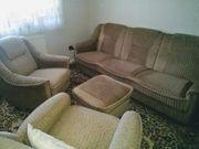 Klappcouch mit 2 Sesseln und