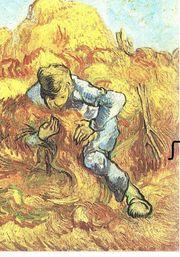 der Garbenbinder Van Gogh Kunstdruck