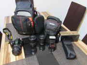 Nikon D5100 mit 3 Objektiven