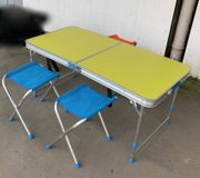 Klapp-Tisch 4 Hocker Campingmöbel klappbar