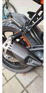 KTM Duke 125 Hitzeschild Auspuff