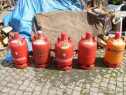 Fünf 11Kg Pfand- Gasflaschen zu