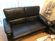 Leder Sofa in schwarz