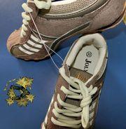 NEU Mädchen Sneaker 35 BRAUN