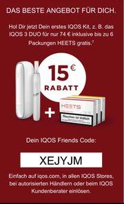 Iqos Gutschein Rabatt Code 15EUR